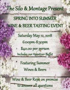 2018 Spring Wine Tasting Poster
