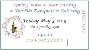 2019 Spring Wine Tasting Ticket-May 3, 2019